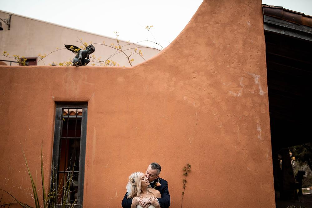 Chapel Dulcinea Wedding Couple Bride And Groom Orange Wall