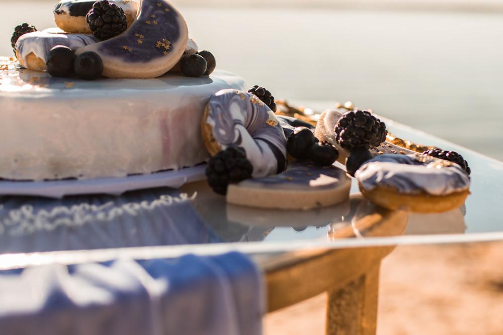 dessert for a texas lakeside adventure elopement