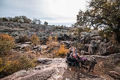 Texas elopement photographer hiking through Inks Lake State Park