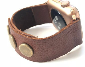 Apple Leather Watch Band Series 4 3 2 1 Fitbit Blaze/Versa Butter soft leather