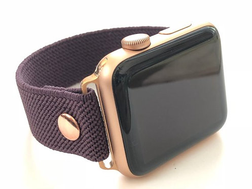 Elastic Apple Watch Band Series 4 3 2 1 / Fitbit VERSA Aubergine
