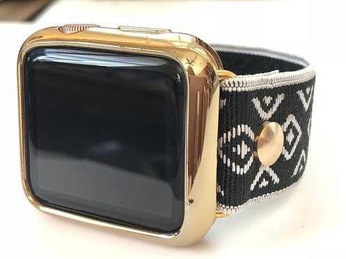 Elastic Apple Watch Band Series 4 3 2 1 / Fitbit Blaze Black & White