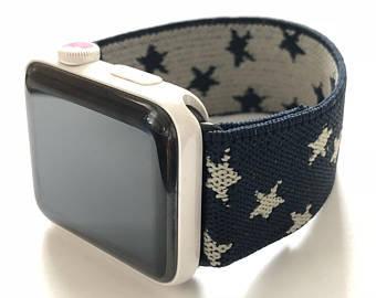 Elastic Apple Watch Band Series 4 3 2 1 / Fitbit Blaze Stars & Stripes