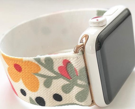 Elastic Apple Watch Band Series 4 3 2 1 / Fitbit Blaze Garden Florals