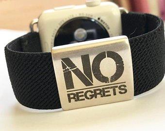 Elastic Apple Watch Band Series 4 3 2 1 / Fitbit Blaze No Regrets