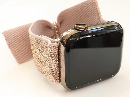 Elastic Apple Watch Band Series 4 3 2 1 / Fitbit Blaze  Bow Tie Rose Gold