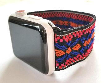 Elastic Apple Watch Band Series 4 3 2 1 / Fitbit Blaze Boho Multi