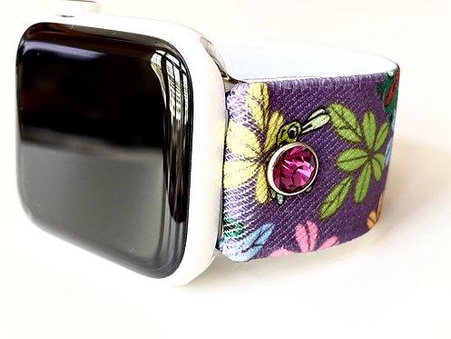 Elastic Whimsical Lavendar Apple Watch & Fitbit Versa