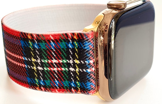 Elastic Apple Watch Band Series 4 3 2 1 / Fitbit Blaze Holiday Plaid