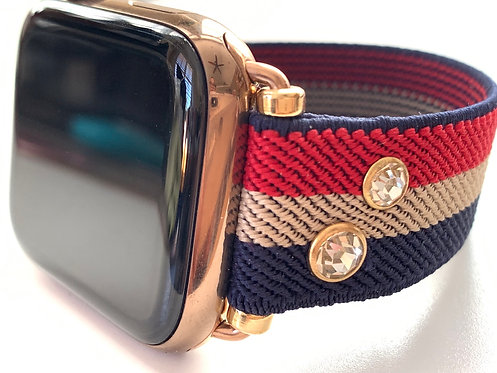 Elastic Watch Band for Apple, Fitbit Versa, Fitbit Blaze Vintage Stars & Stripes