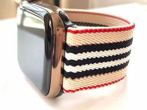 Elastic Apple Watch Band Series 4 3 2 1 / Fitbit Designer Stripes