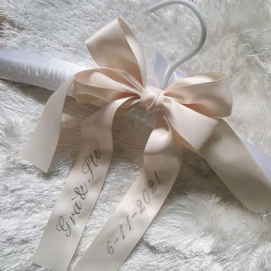 Personalised Bridal Bow & Satin Hanger