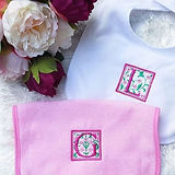 Love this embroidered floral letters for
