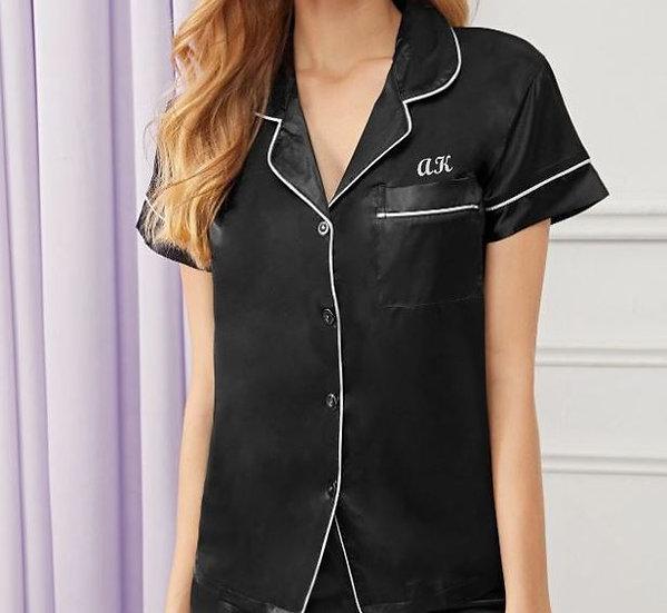 Personalised Long Satin Pyjamas