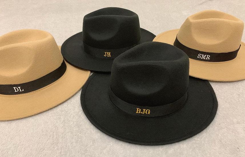 Personalised Unisex Fedora Hat