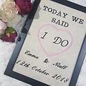 Personalised wedding keepsakes...this is