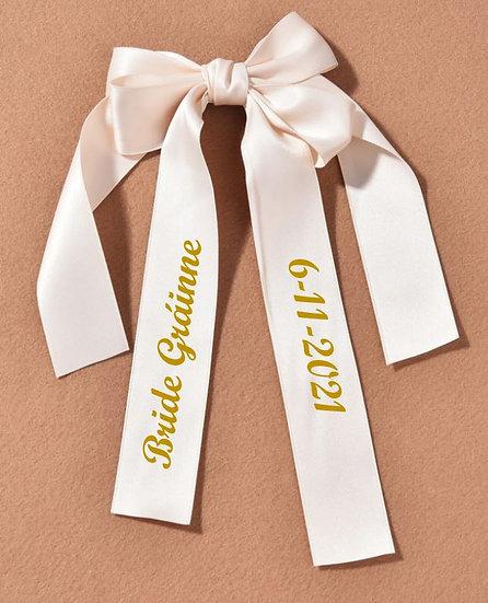 Personalised Bridal Decorative Bow