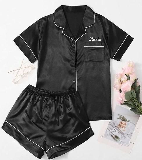 Personalised Short Satin Pyjamas
