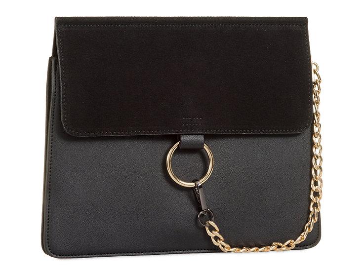 Personalised Chain Detail Envelope Clutch Bag