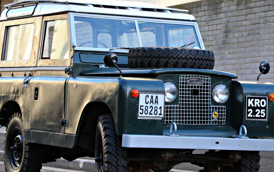 "1961 Series IIa, 88"", with Safari roof"