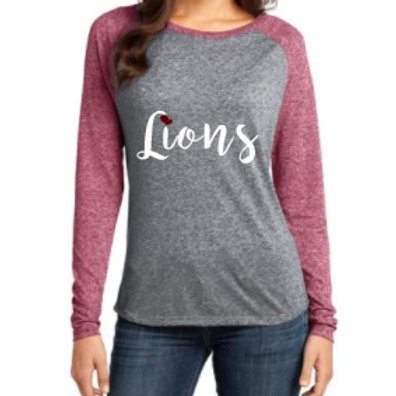 Lions Heart Raglan Long-Sleeve Tee