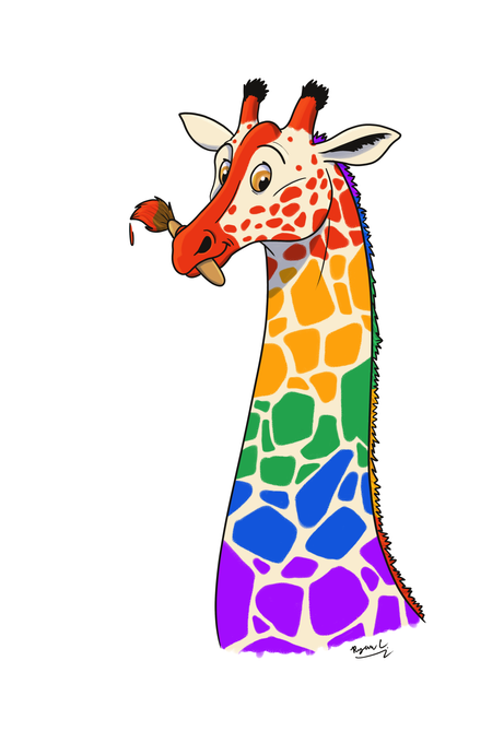 Painted Giraffe Design