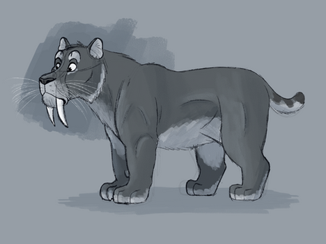 Smilodon Character Sketch