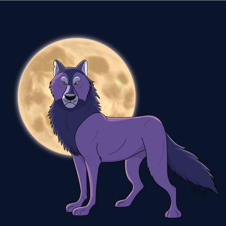 Purple Wolf Design