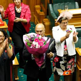 Louisa Wall MP, Tau Henare MP, and Metiria Turei MP