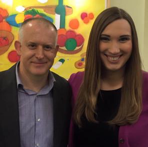 The author and Sarah McBride