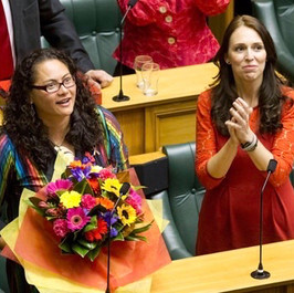 Louisa Wall MP with now Prime Minister Jacinda Ardern