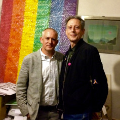 The author and Peter Tatchell