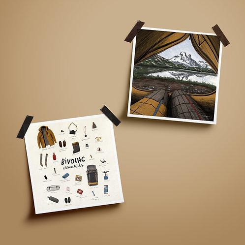 Diptyque Bivouac - set de 2 illustrations
