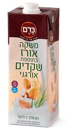 משקה אורז בתוספת שקדים אורגני