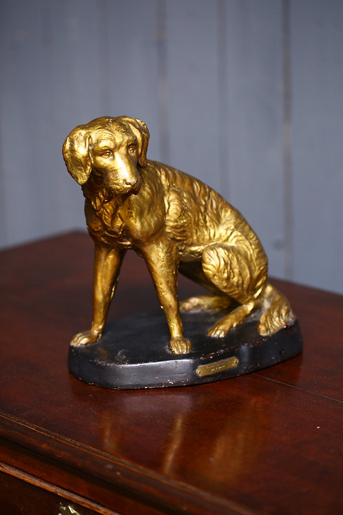 C20th Plaster study of a hound
