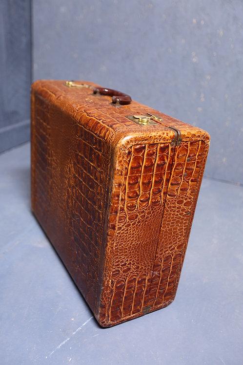 C1930's Gentleman's faux crocodile suitcase