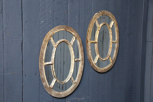 A Pair of C19th Mirrored Architectural Panels