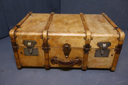 C1900 velum covered steamer trunk
