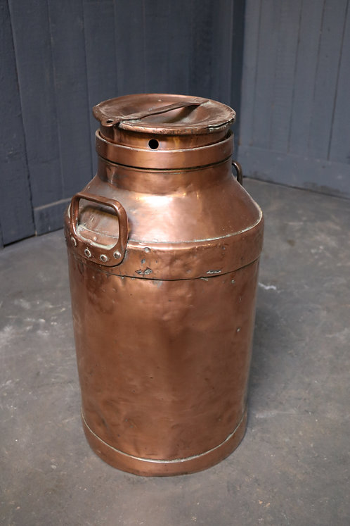 C19th Copper Milk Churn