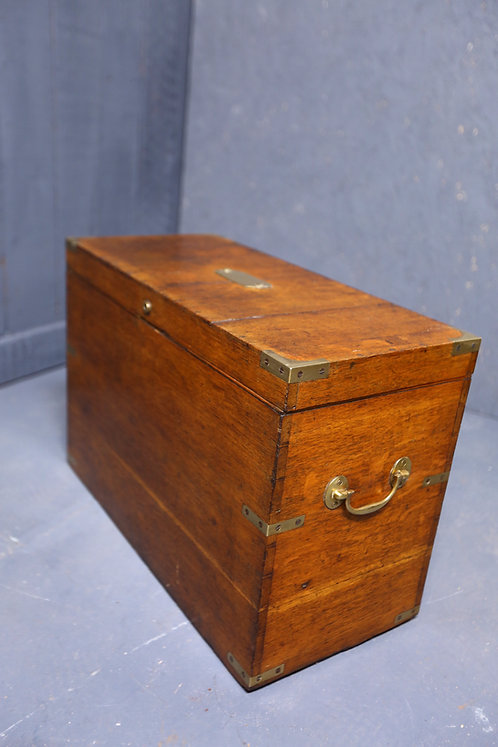 C1880 Oak brass bound military chest
