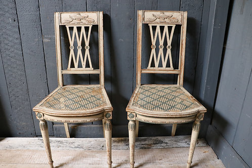 A Pair of Early C19th Empire Salon Chairs