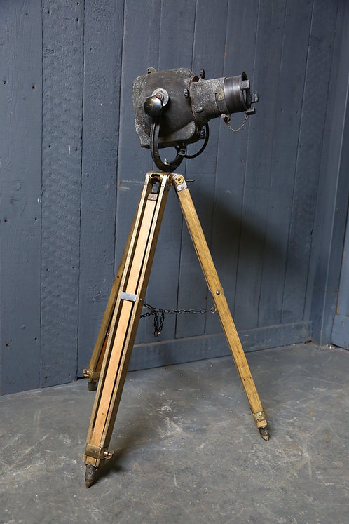 C20th Theatrical Stage Lamp on Tripod