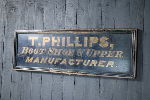 C19th Hand Painted Advertising Sign