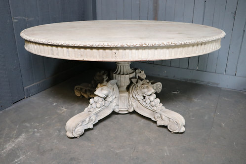 C19th Profusely Carved Centre Table