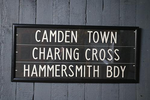 C1950's London Bus Route Signs