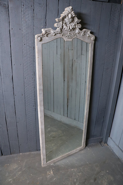 C1900 French Painted Full Length Mirror