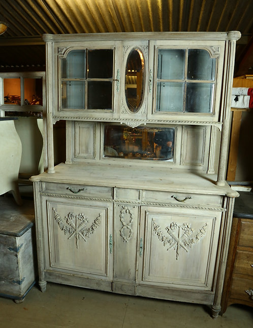 Late C19th French Glazed Dresser