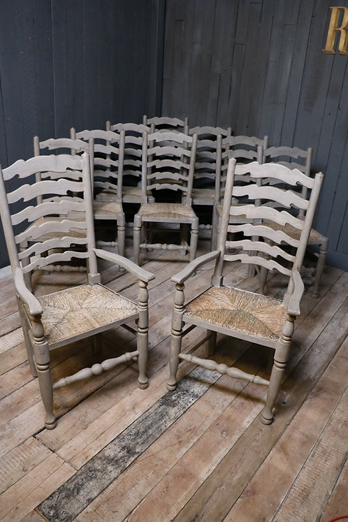 C20th Ladder Back Chairs