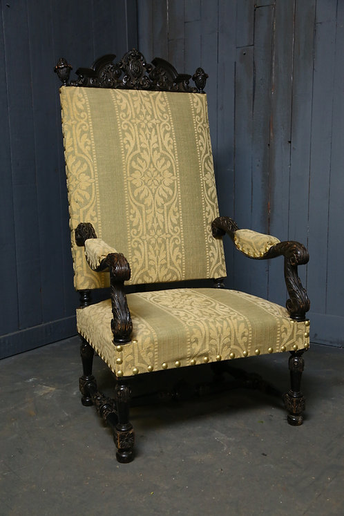 C1870 French Renaissance Revival Throne Chair