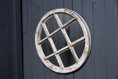 C20th circular mirrored panel
